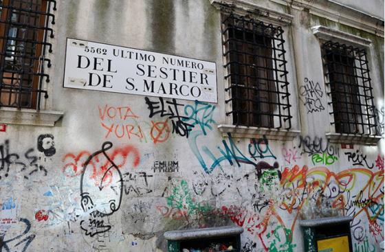 Biennale venice graffiti houses