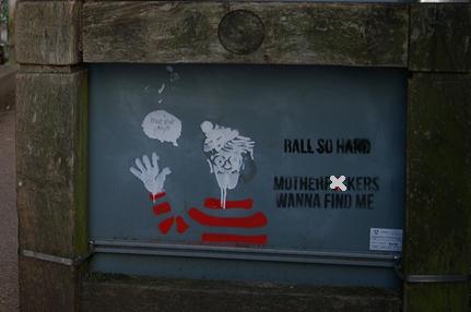 wheres wally kent uni spotted graffiti ball so hard motherfuckers wanna find me